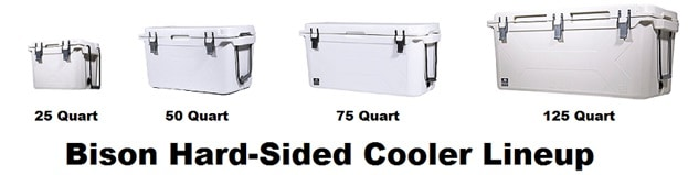 bison hard sided cooler lineup
