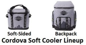 cordova soft sided cooler lineup