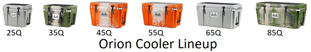 Orion Hard Sided Coolers Line Up