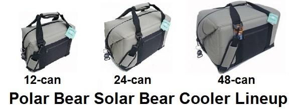 polar bear solar bear cooler lineup