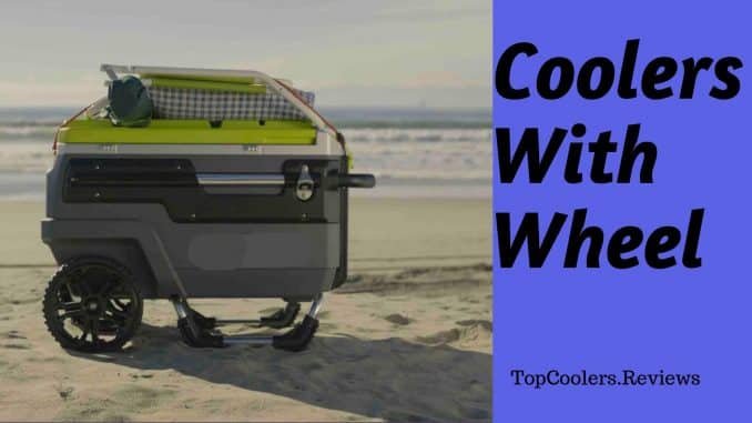 Coolers with wheel