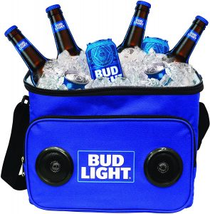 budlight cooler with speaker